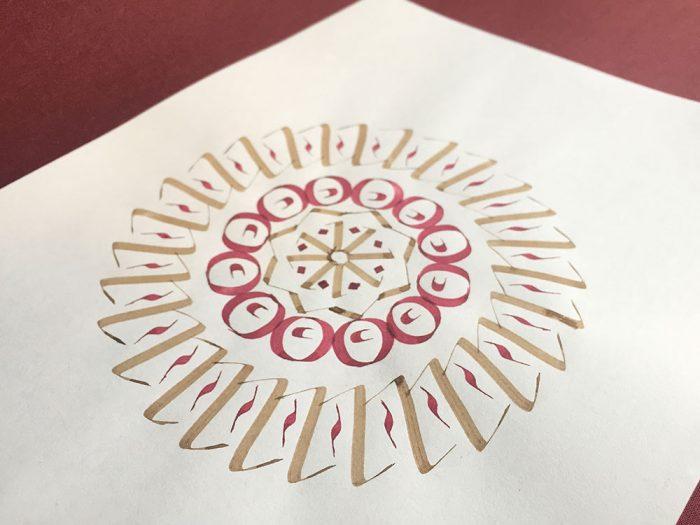 Trazos con pluma y tinta