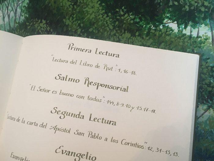 Libro de firmas caligrafía carolina