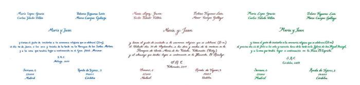 Tipos de caligrafía: carolina, inglesa e itálica